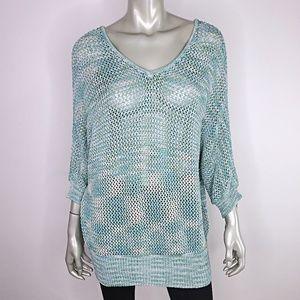 Lane Bryant Womens Open Knit Sweater Plus Sz 14/16